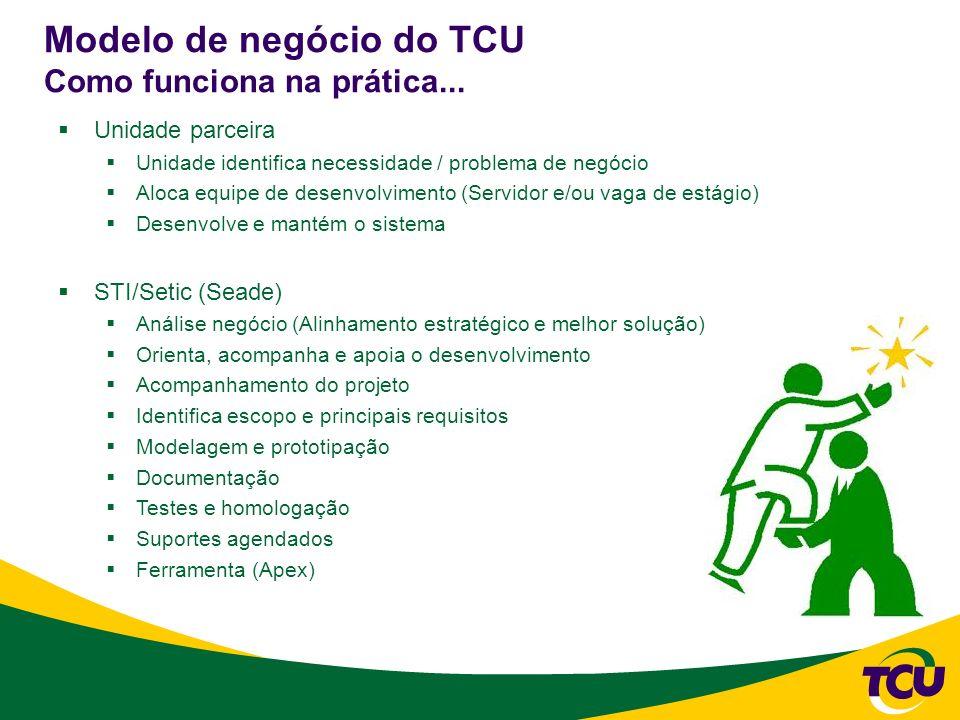 Modelo de negócio do TCU Como funciona na prática...