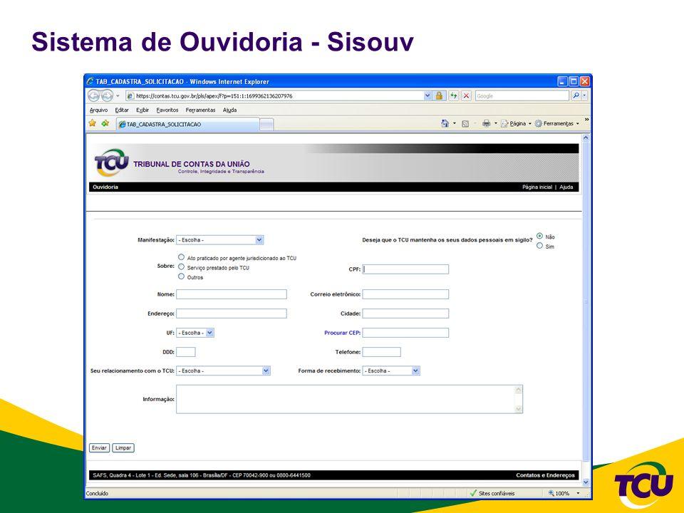 Sistema de Ouvidoria - Sisouv