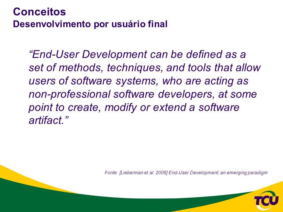 Conceitos Desenvolvimento por usuário final