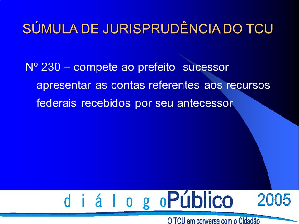 SÚMULA DE JURISPRUDÊNCIA DO TCU