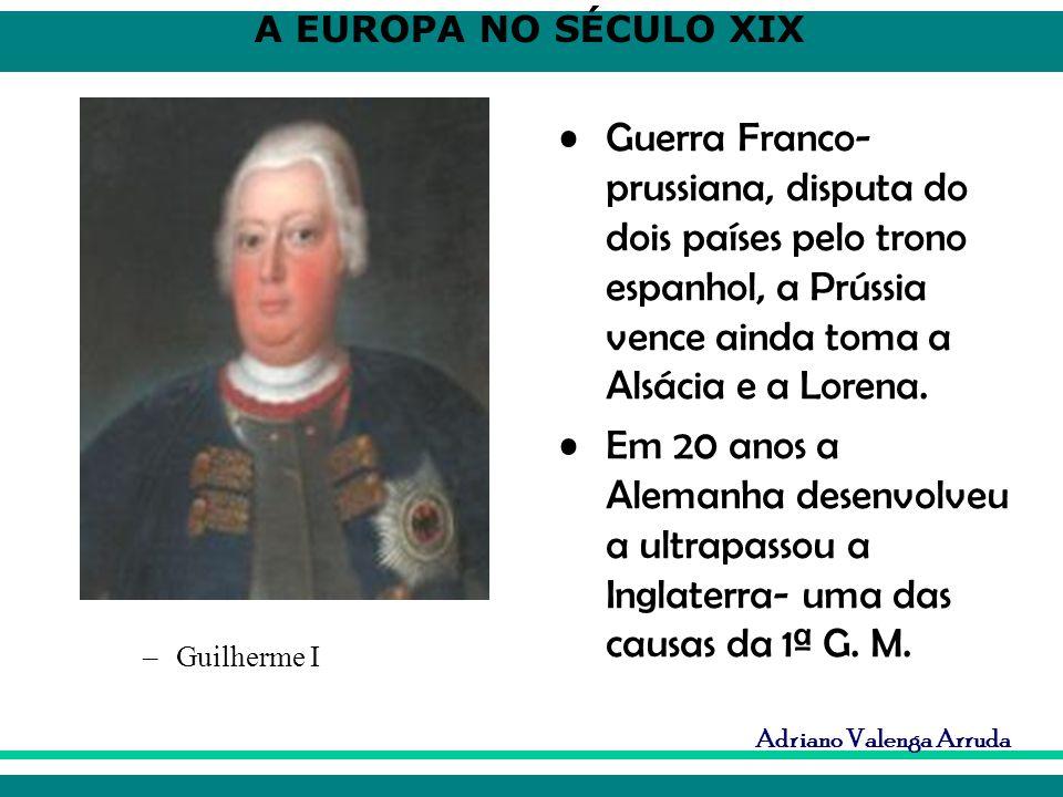 Guerra Franco-prussiana, disputa do dois países pelo trono espanhol, a Prússia vence ainda toma a Alsácia e a Lorena.