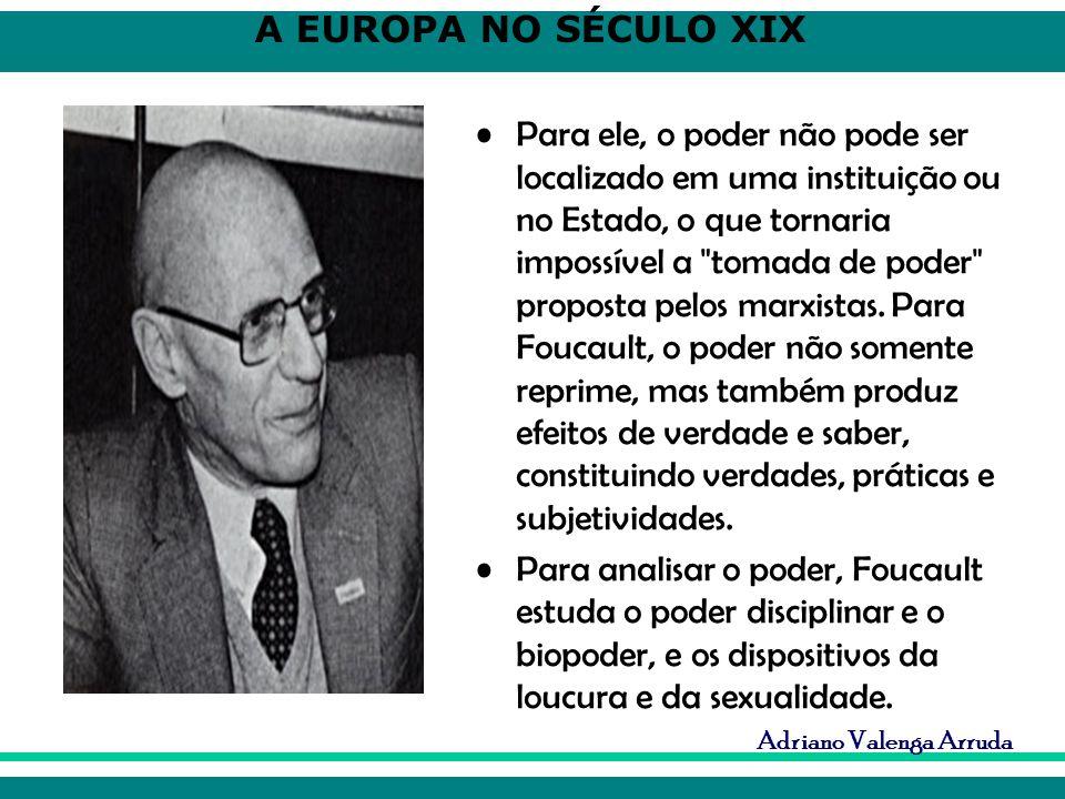 Para ele, o poder não pode ser localizado em uma instituição ou no Estado, o que tornaria impossível a tomada de poder proposta pelos marxistas. Para Foucault, o poder não somente reprime, mas também produz efeitos de verdade e saber, constituindo verdades, práticas e subjetividades.