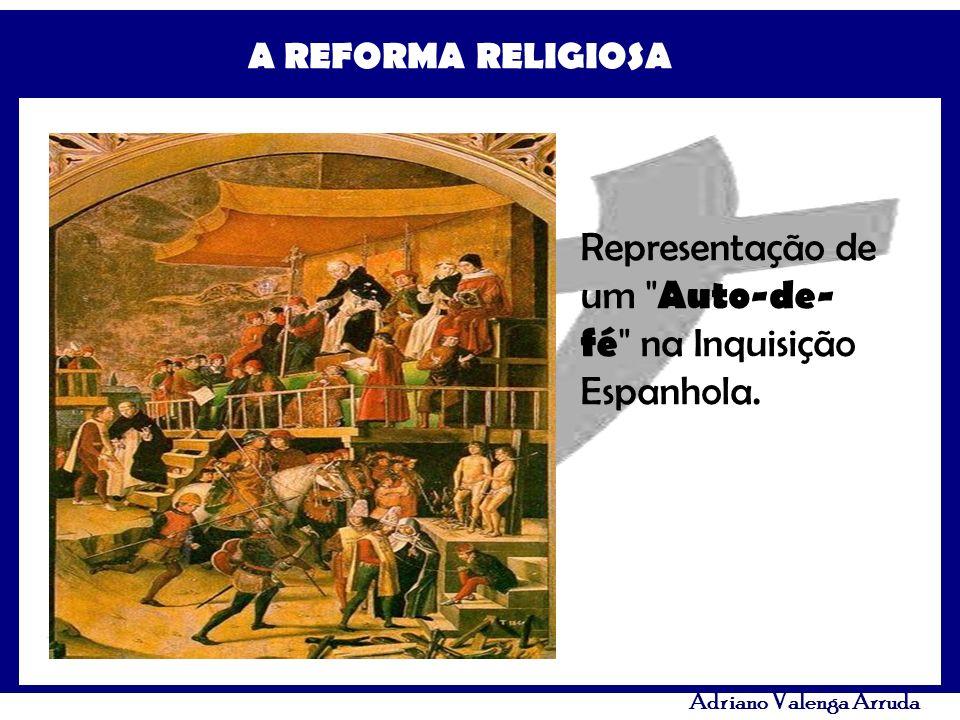 Representação de um Auto-de-fé na Inquisição Espanhola.