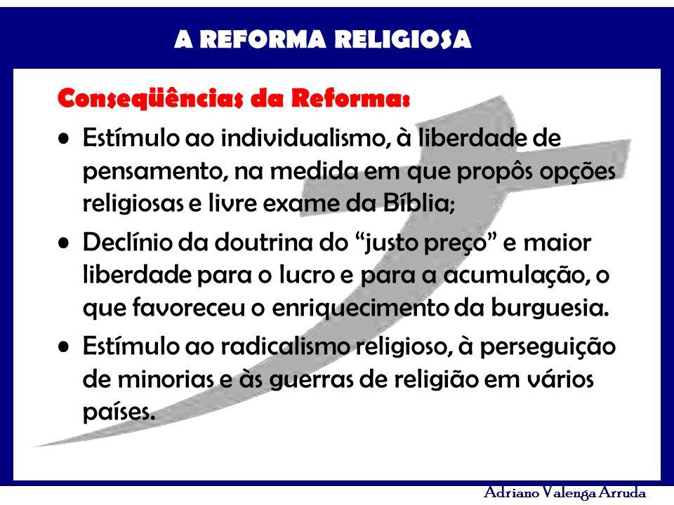 Conseqüências da Reforma: