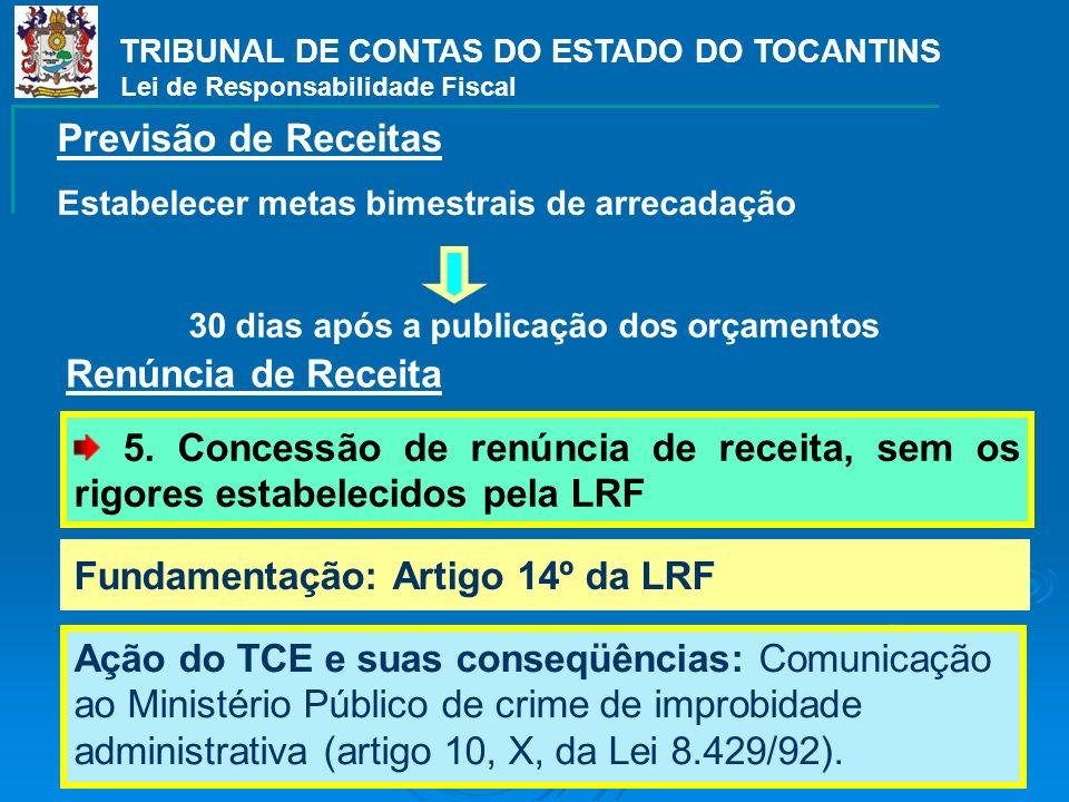 Fundamentação: Artigo 14º da LRF