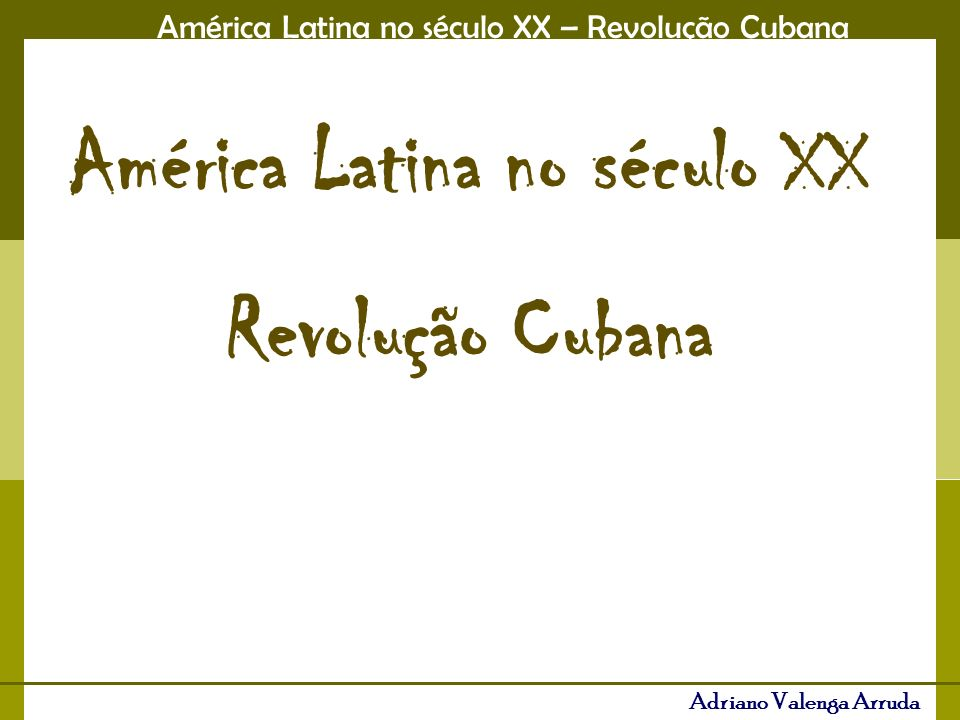 América Latina no século XX