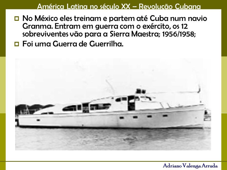 No México eles treinam e partem até Cuba num navio Granma