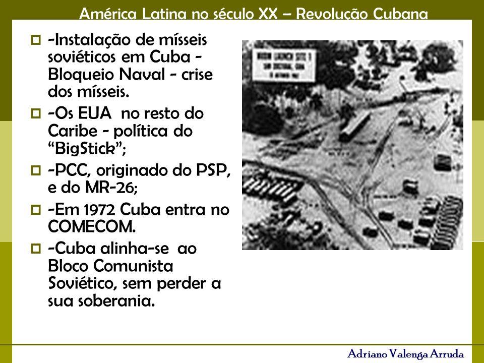 -Instalação de mísseis soviéticos em Cuba - Bloqueio Naval - crise dos mísseis.