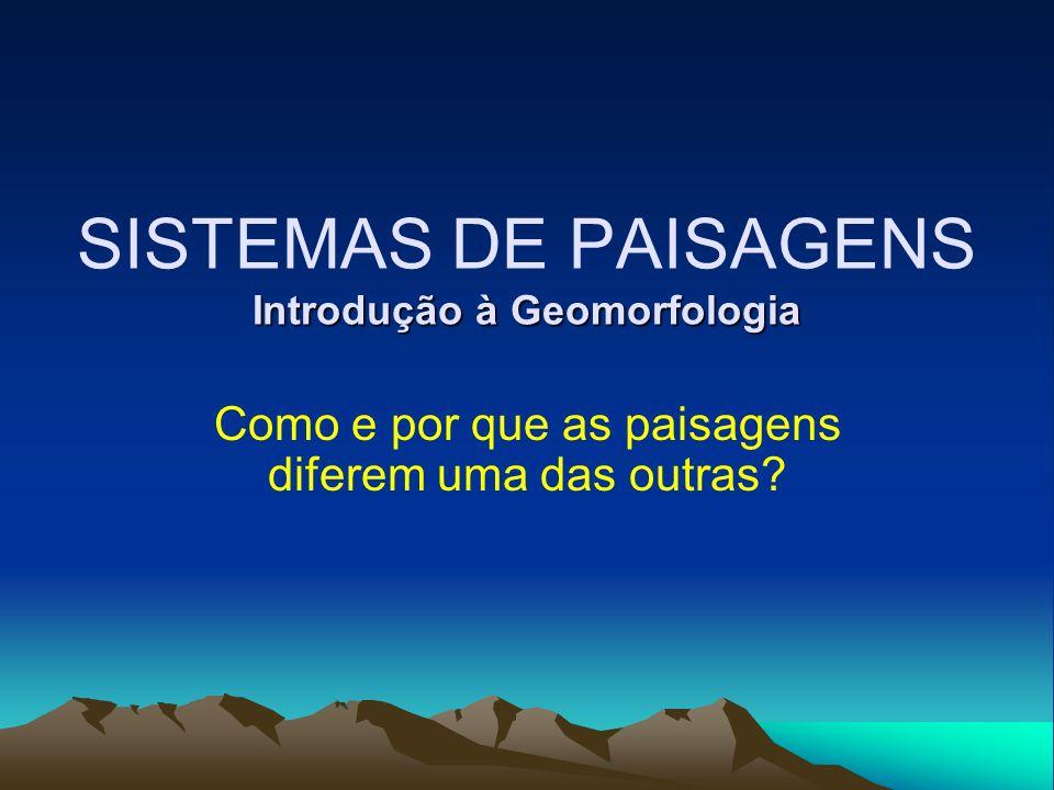 SISTEMAS DE PAISAGENS Introdução à Geomorfologia