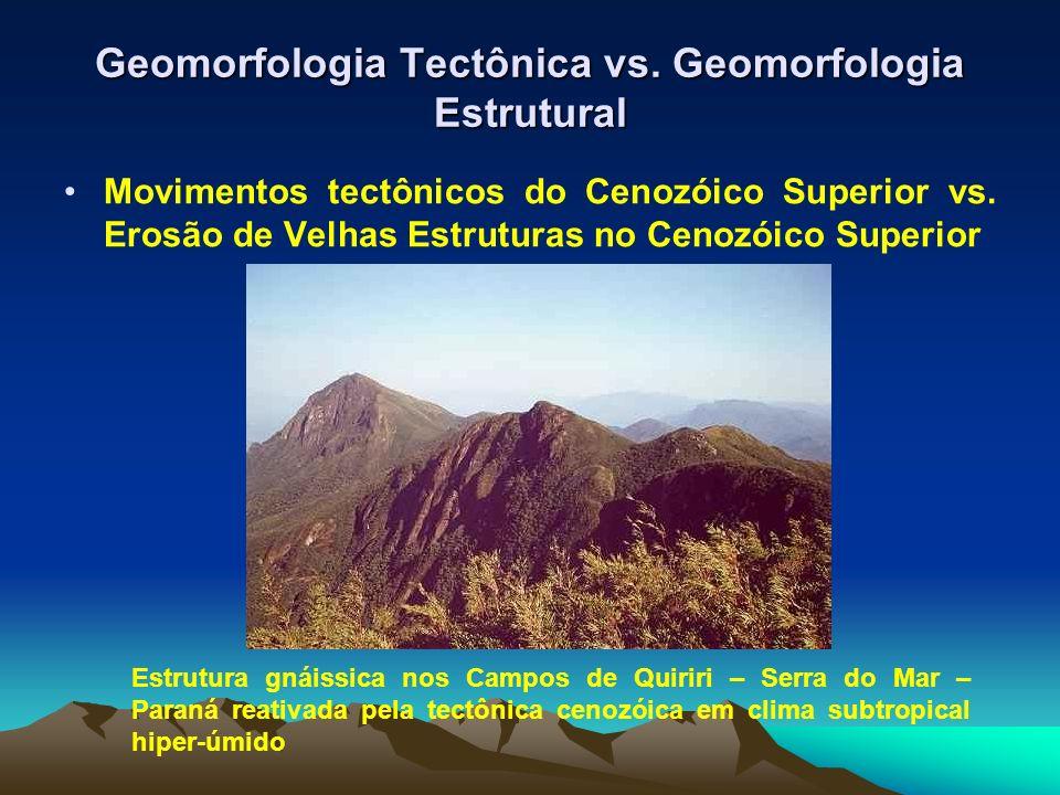 Geomorfologia Tectônica vs. Geomorfologia Estrutural