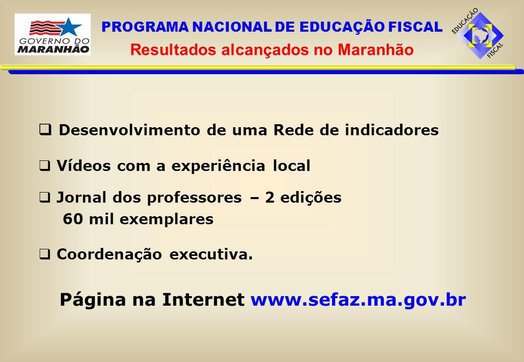 Página na Internet www.sefaz.ma.gov.br