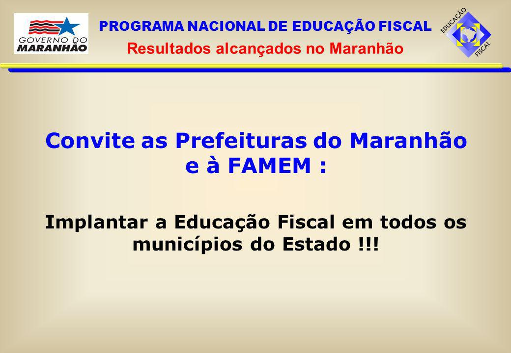 Convite as Prefeituras do Maranhão e à FAMEM :
