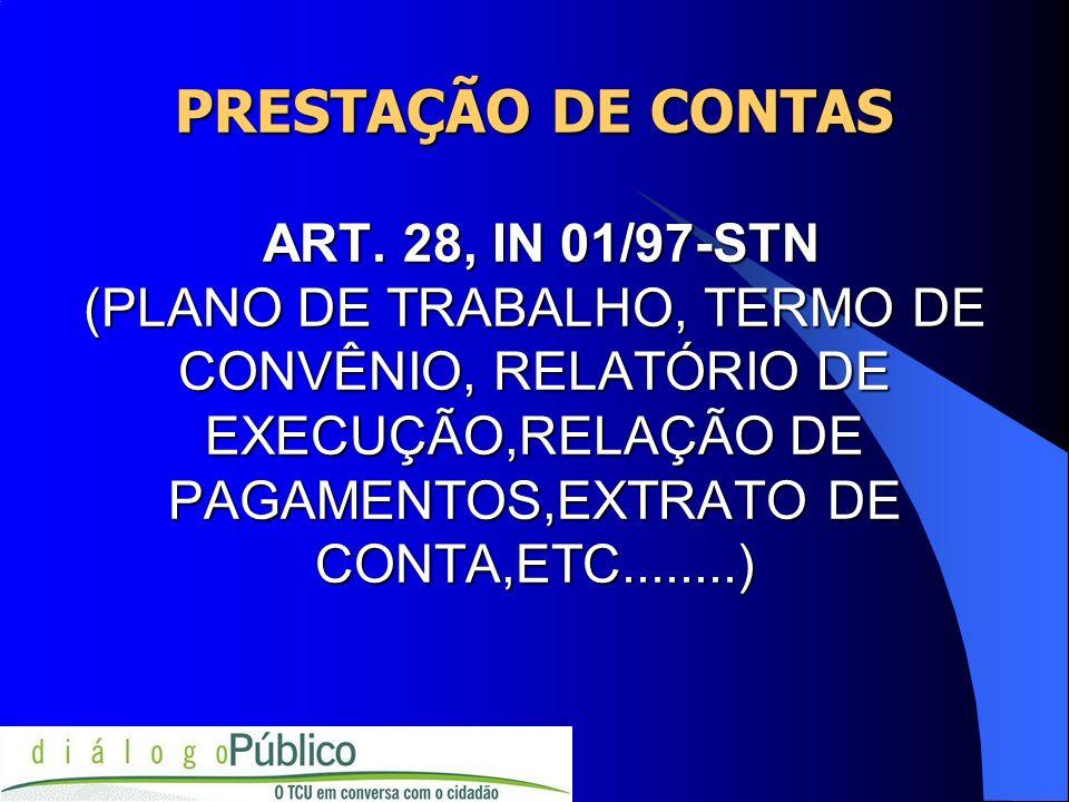 PRESTAÇÃO DE CONTAS ART