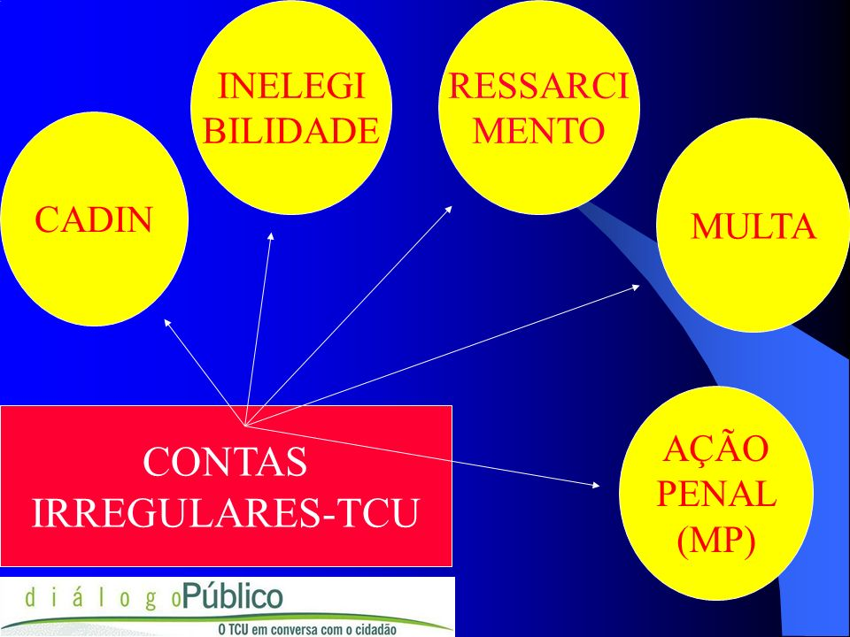 CONTAS IRREGULARES-TCU INELEGI BILIDADE RESSARCI MENTO CADIN MULTA