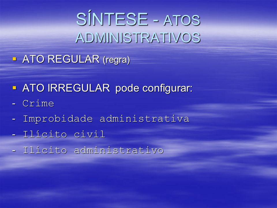 SÍNTESE - ATOS ADMINISTRATIVOS