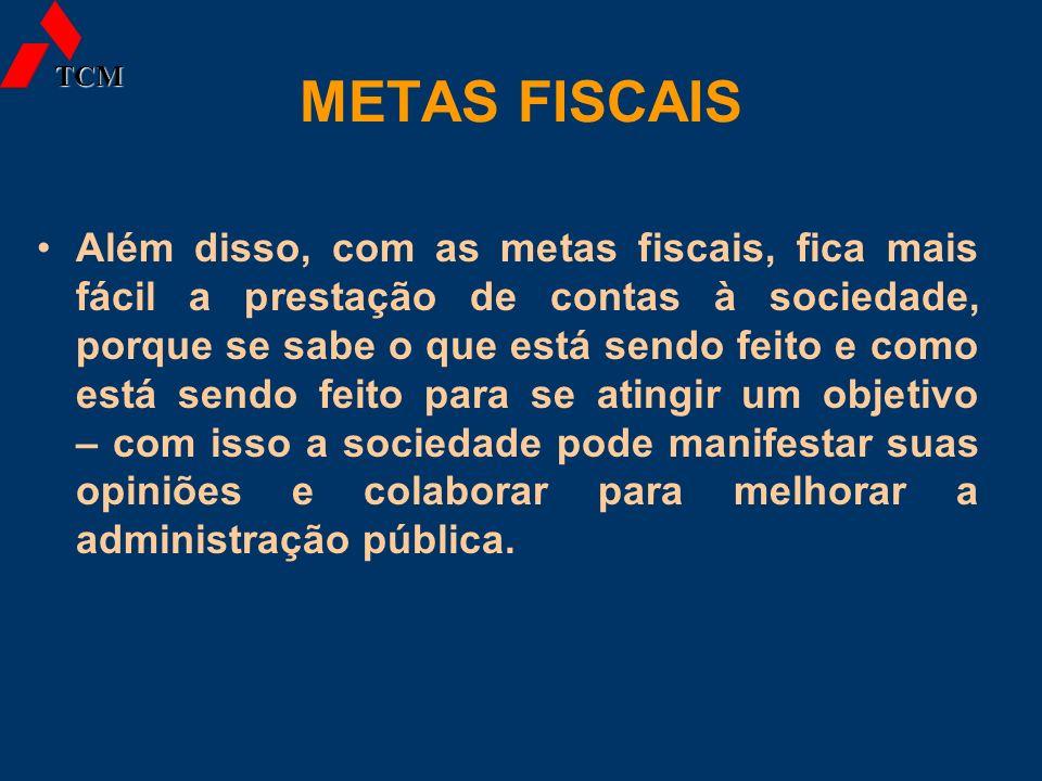 TCM METAS FISCAIS.