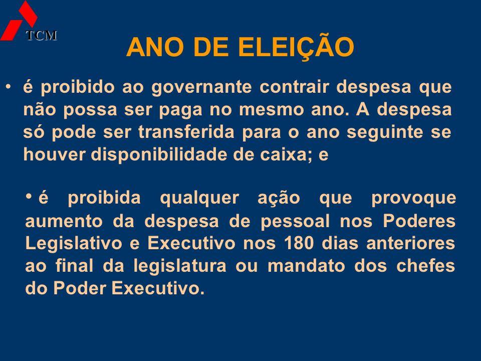 TCM ANO DE ELEIÇÃO.