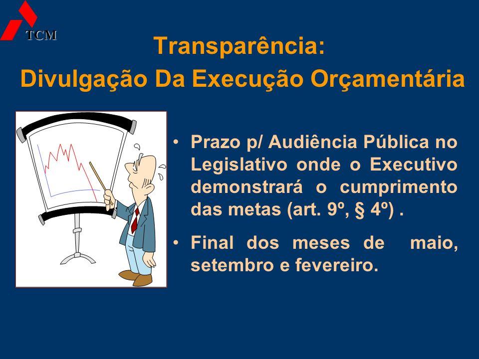 Transparência: Divulgação Da Execução Orçamentária