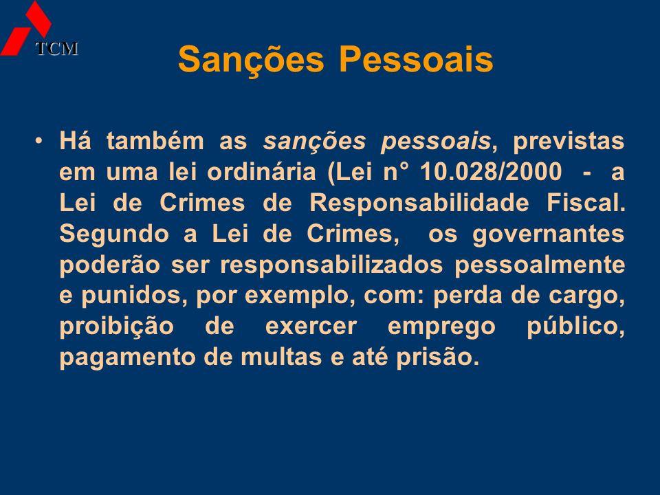TCM Sanções Pessoais.
