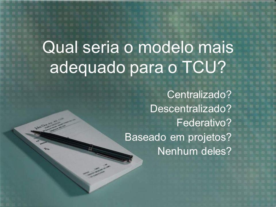 Qual seria o modelo mais adequado para o TCU