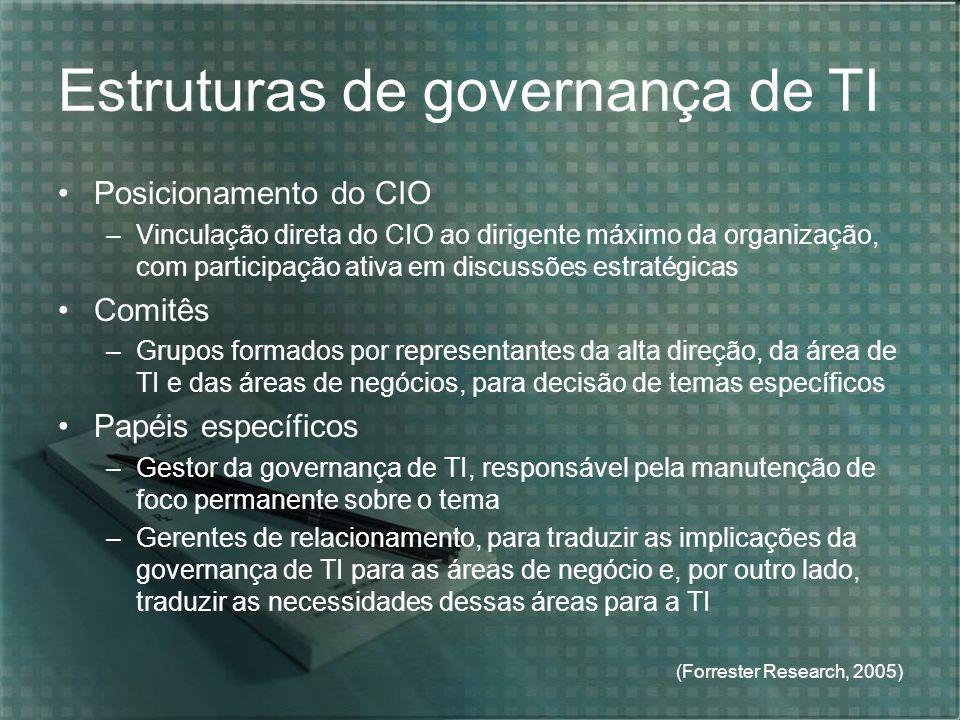 Estruturas de governança de TI