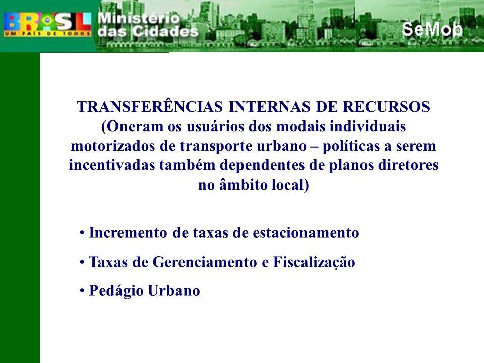 TRANSFERÊNCIAS INTERNAS DE RECURSOS