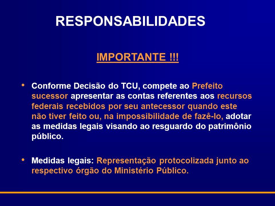 RESPONSABILIDADES IMPORTANTE !!!