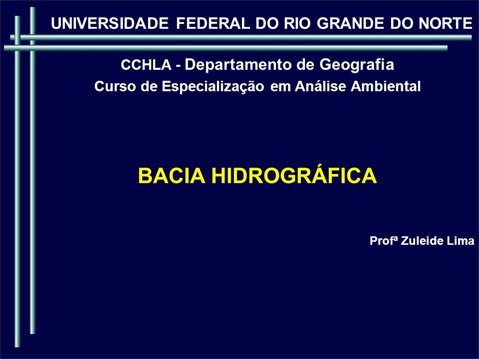 BACIA HIDROGRÁFICA UNIVERSIDADE FEDERAL DO RIO GRANDE DO NORTE