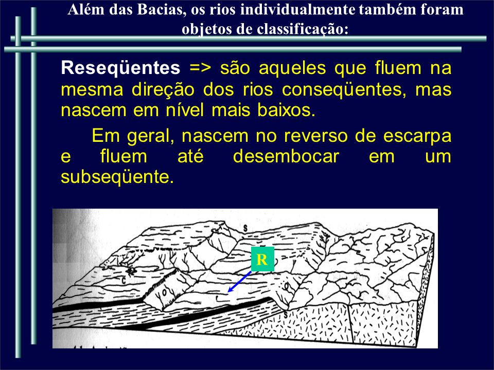 Além das Bacias, os rios individualmente também foram objetos de classificação: