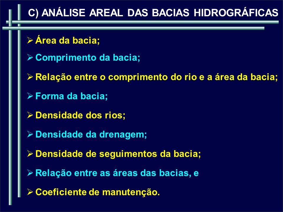 C) ANÁLISE AREAL DAS BACIAS HIDROGRÁFICAS