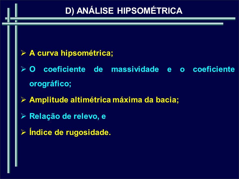 D) ANÁLISE HIPSOMÉTRICA
