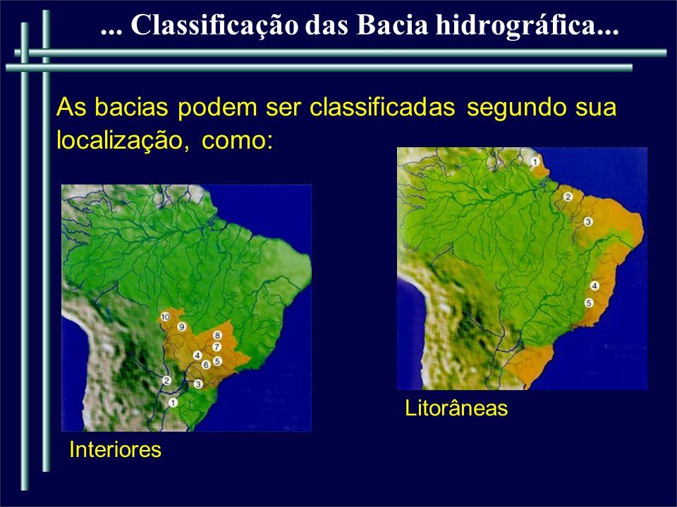 ... Classificação das Bacia hidrográfica...