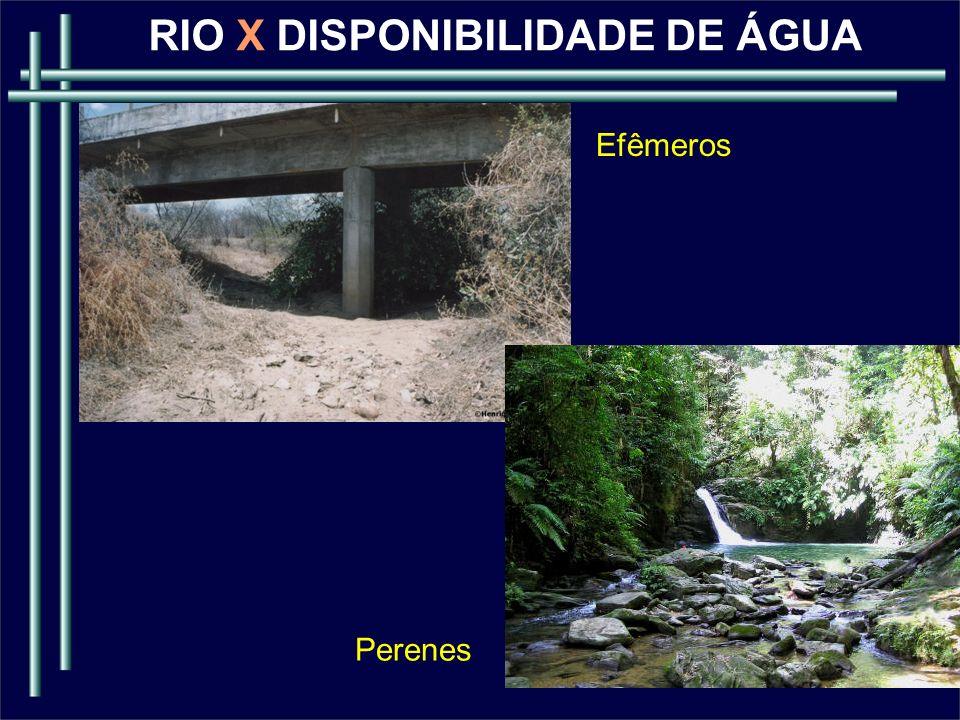 RIO X DISPONIBILIDADE DE ÁGUA