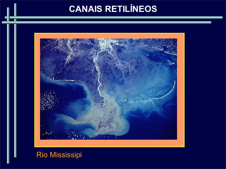 CANAIS RETILÍNEOS Rio Mississipi