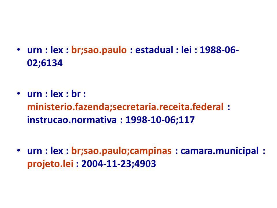 urn : lex : br;sao.paulo : estadual : lei : 1988-06-02;6134