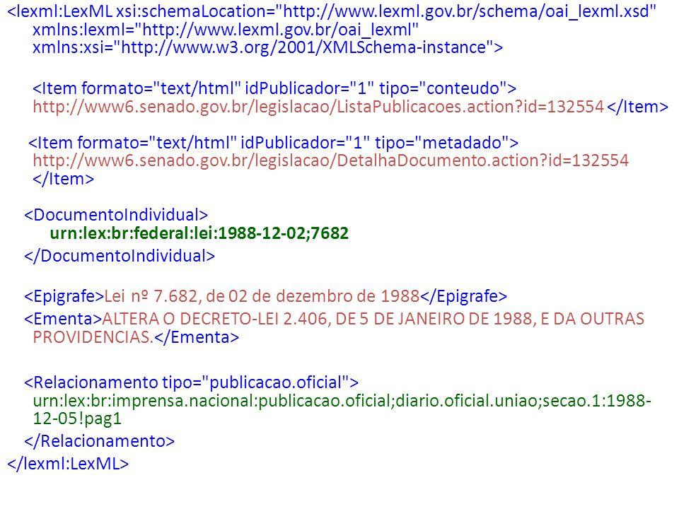 <lexml:LexML xsi:schemaLocation= http://www. lexml. gov
