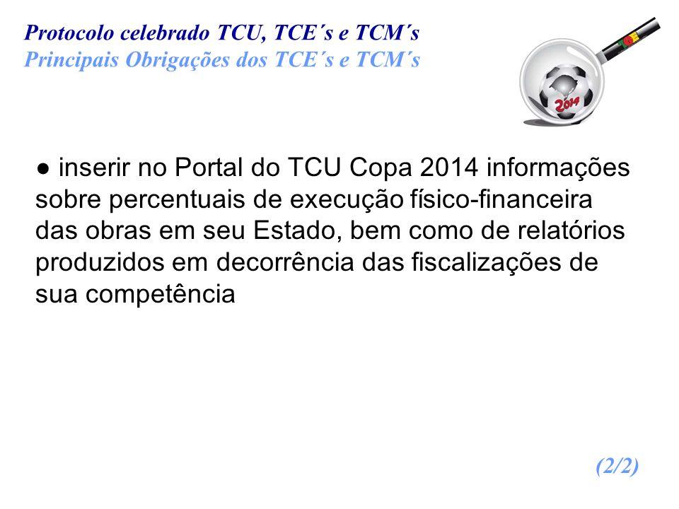 Protocolo celebrado TCU, TCE´s e TCM´s