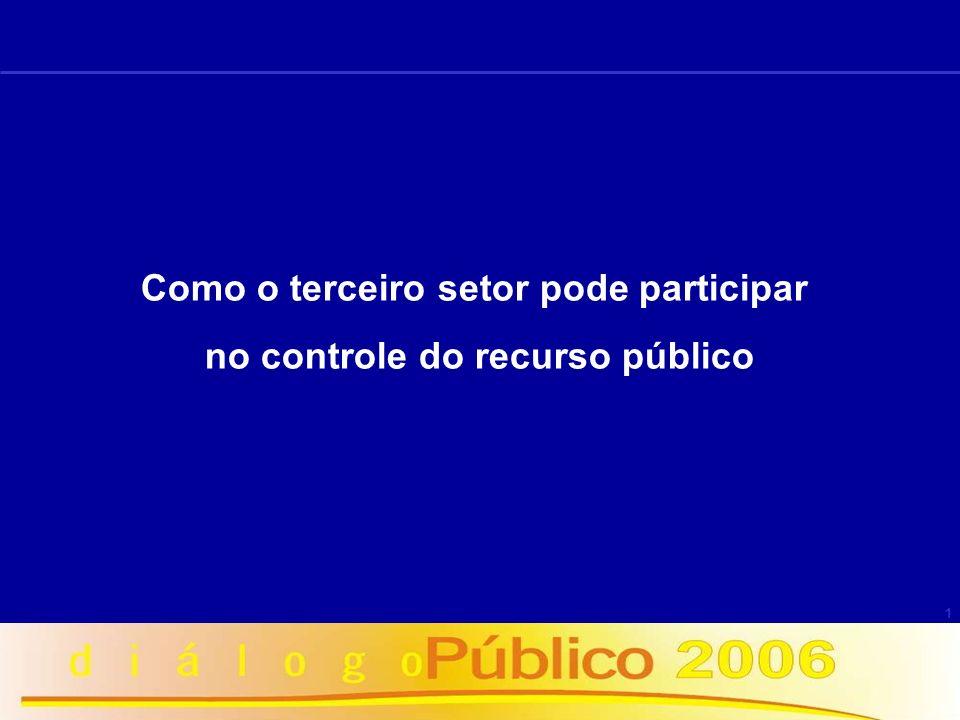 Como o terceiro setor pode participar no controle do recurso público