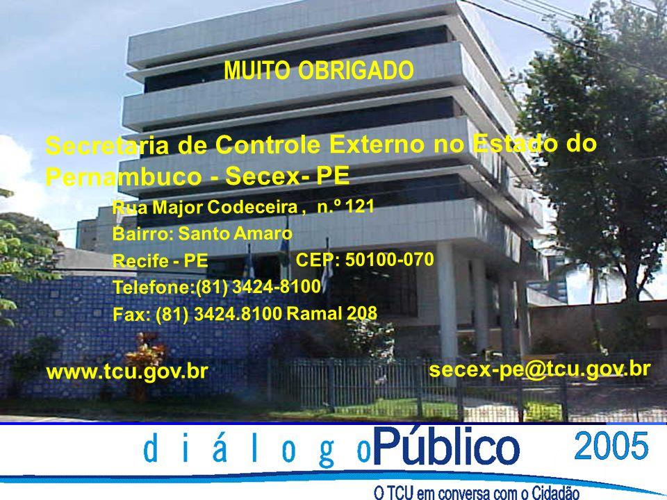Secretaria de Controle Externo no Estado do Pernambuco - Secex- PE