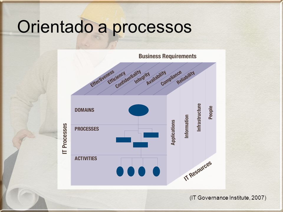 Orientado a processos (IT Governance Institute, 2007)