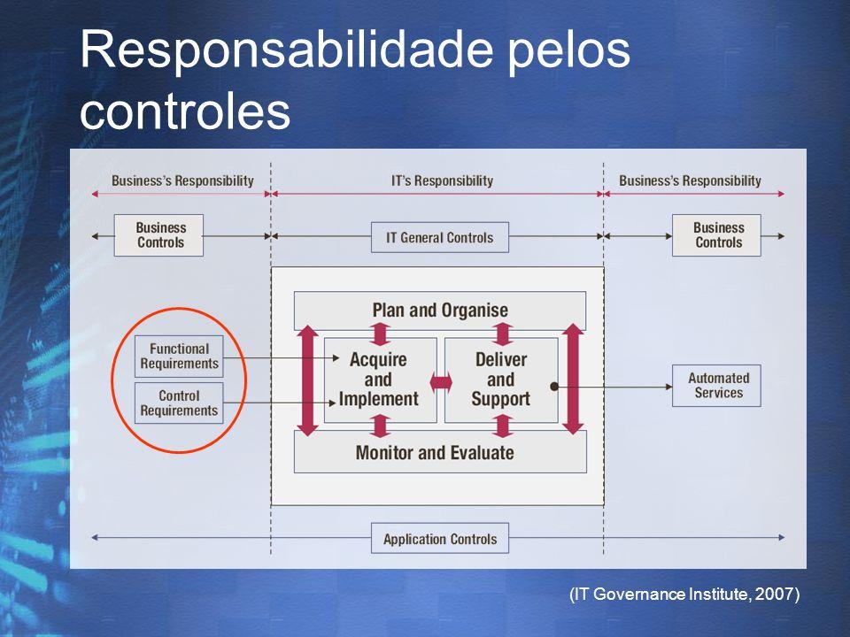 Responsabilidade pelos controles