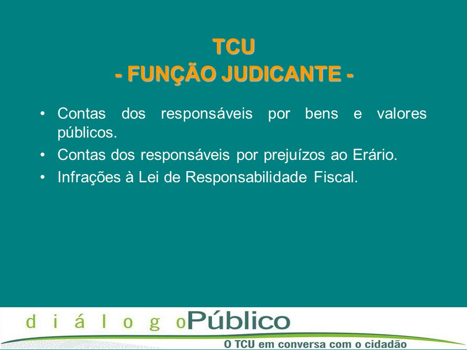 TCU - FUNÇÃO JUDICANTE -