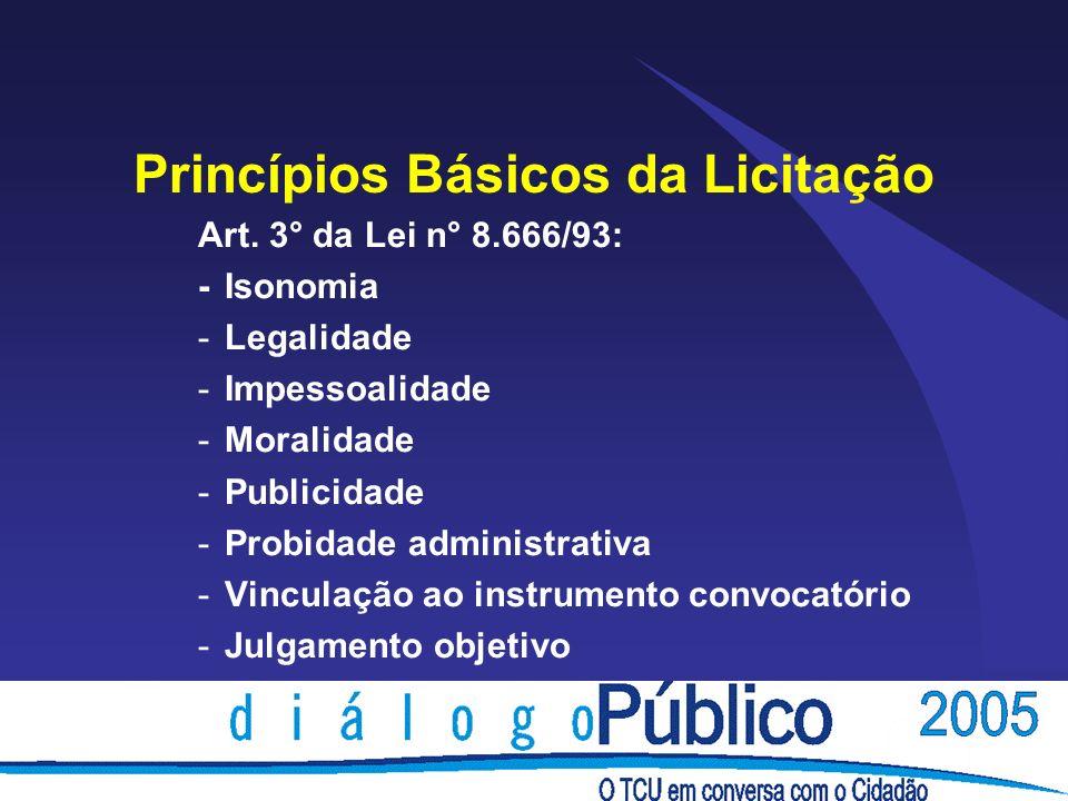 Princípios Básicos da Licitação