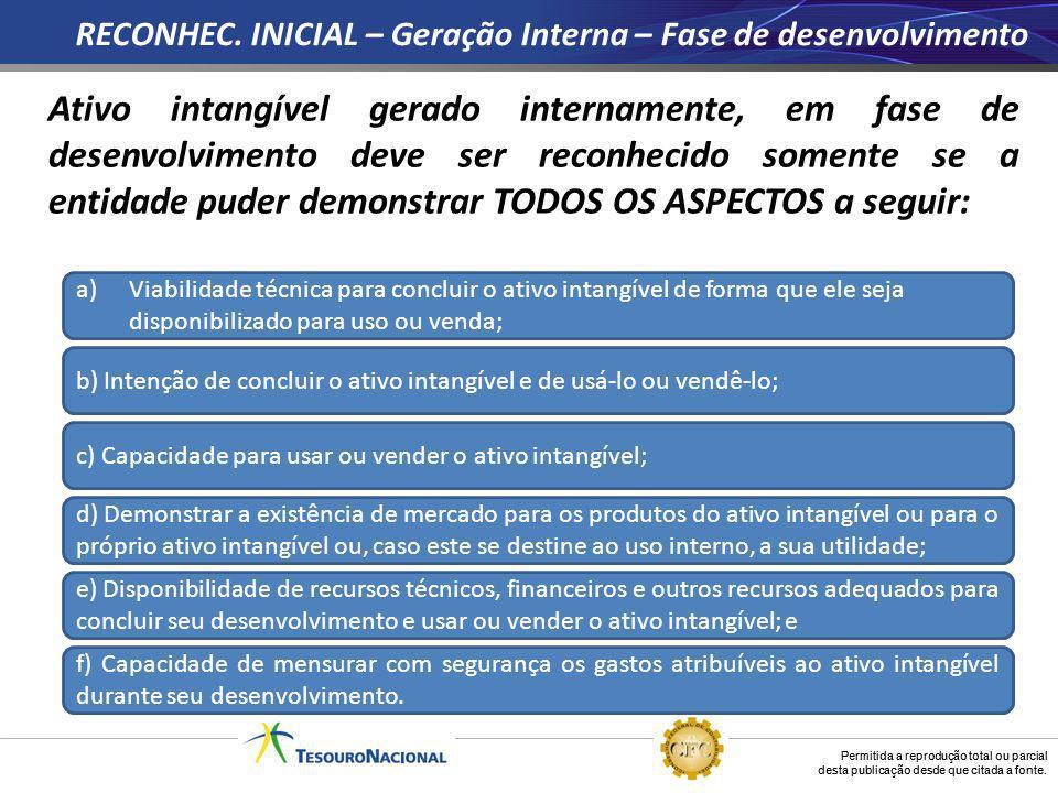 RECONHEC. INICIAL – Geração Interna – Fase de desenvolvimento