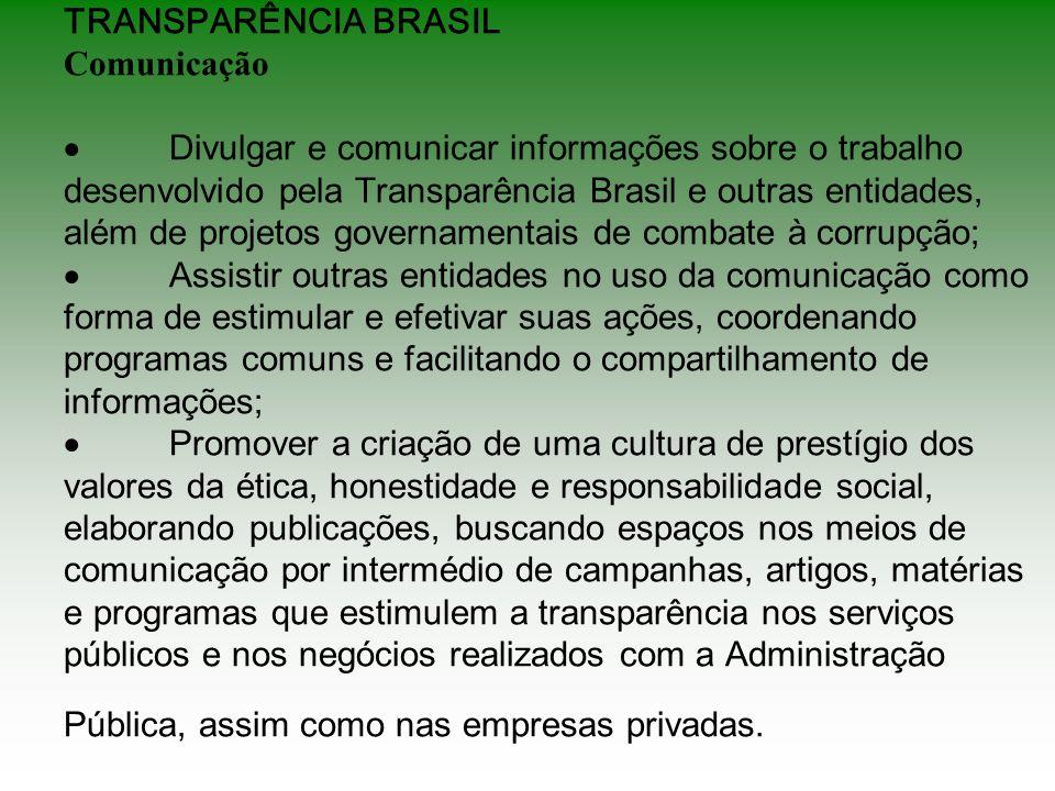 TRANSPARÊNCIA BRASIL Comunicação ·