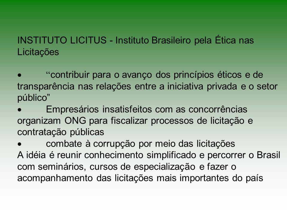 INSTITUTO LICITUS - Instituto Brasileiro pela Ética nas Licitações ·