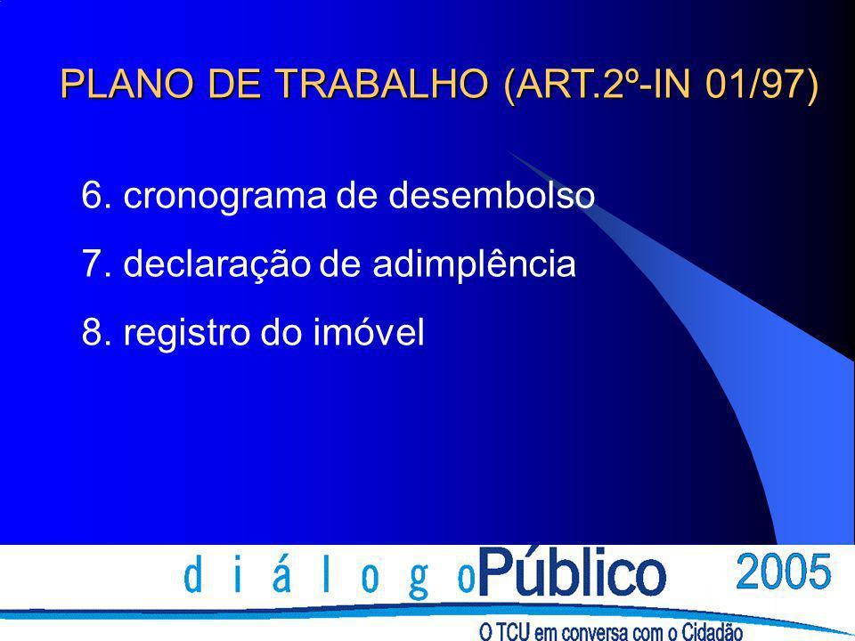 PLANO DE TRABALHO (ART.2º-IN 01/97)
