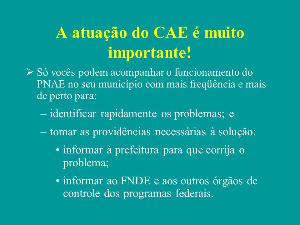 A atuação do CAE é muito importante!