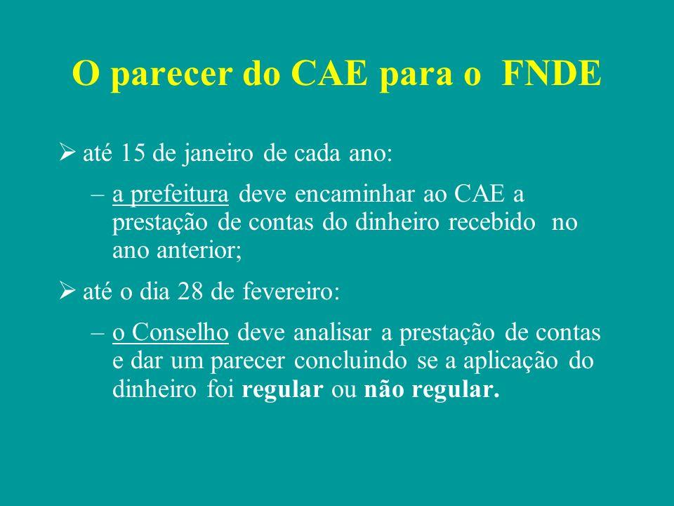 O parecer do CAE para o FNDE