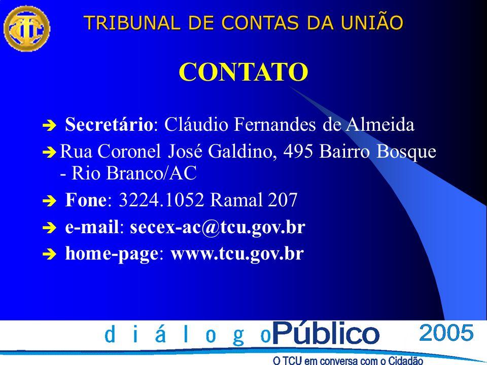 CONTATO Secretário: Cláudio Fernandes de Almeida
